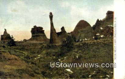 Monument Park - Badlands, South Dakota SD Postcard