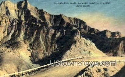 Badlands Crags - Badlands National Monument, South Dakota SD Postcard