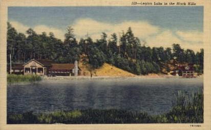 103 - Legion Lake - Black Hills, South Dakota SD Postcard