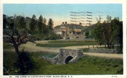 The Lodge in Custer Park - Black Hills, South Dakota SD Postcard