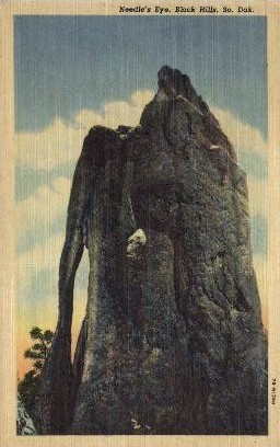 The Needle's Eye, State Park - Black Hills, South Dakota SD Postcard