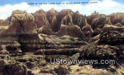 Badlands - Black Hills, South Dakota SD Postcard
