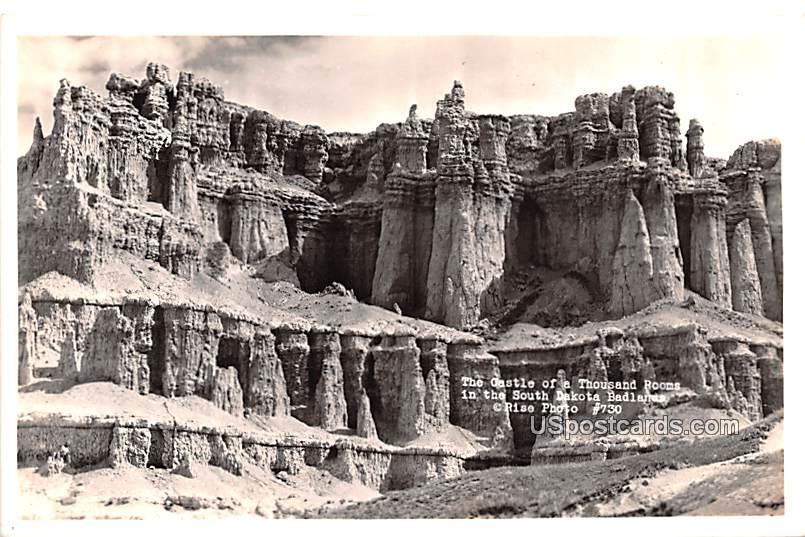 Castle of Thousand Rooms - Badlands, South Dakota SD Postcard