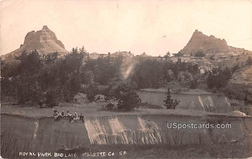 Royal Park - Badlands, South Dakota SD Postcard