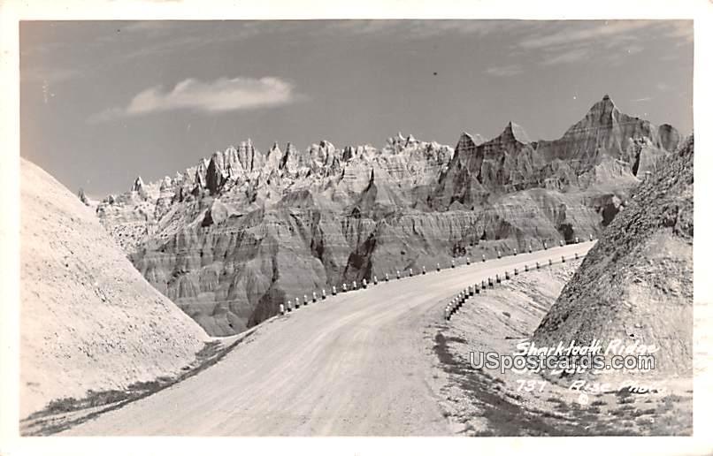 Shark Tooth Ridge - Badlands, South Dakota SD Postcard