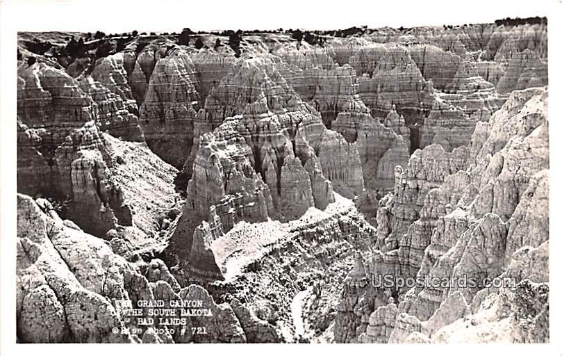 Grand Canyon of the South Dakota - Badlands Postcard