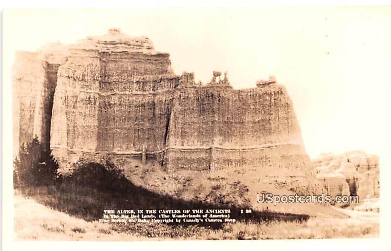 The Alter - Badlands, South Dakota SD Postcard