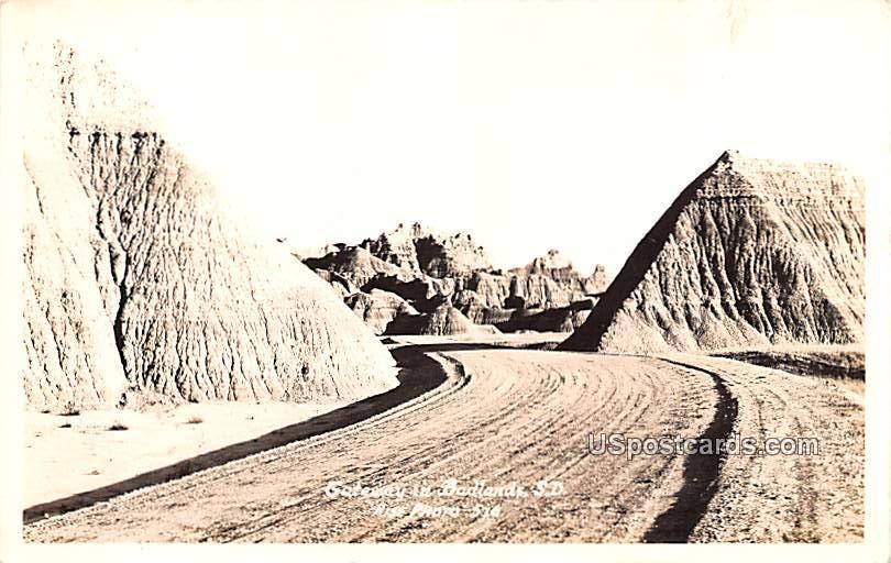 Gateway - Badlands, South Dakota SD Postcard