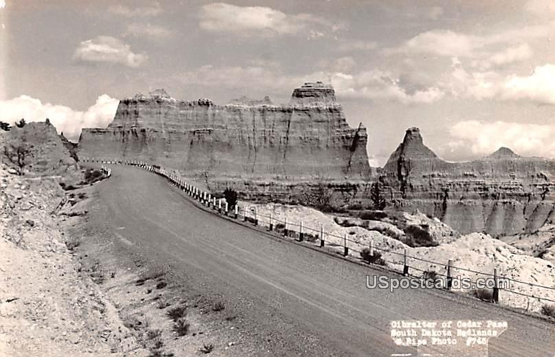 Gibrater of Cedar Pass - Badlands, South Dakota SD Postcard