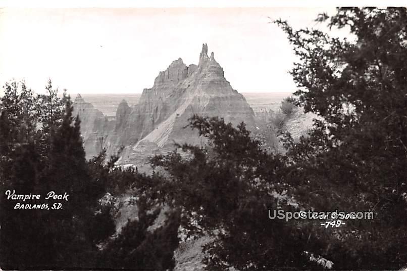Vampire Peak - Badlands, South Dakota SD Postcard