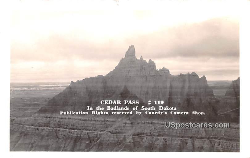Cedar Pass - Badlands, South Dakota SD Postcard