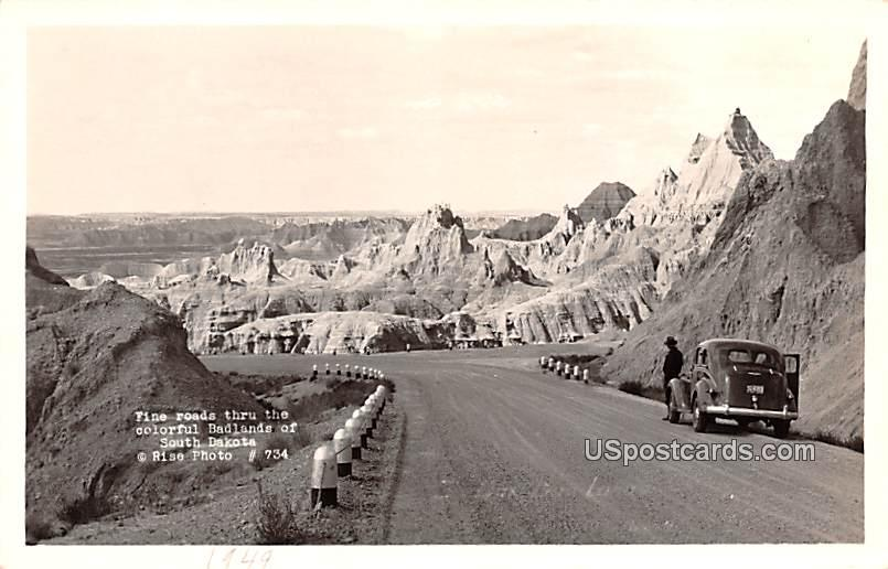 Fine Road - Badlands, South Dakota SD Postcard