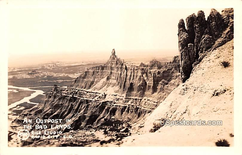 Outpost in the Badlands - South Dakota SD Postcard