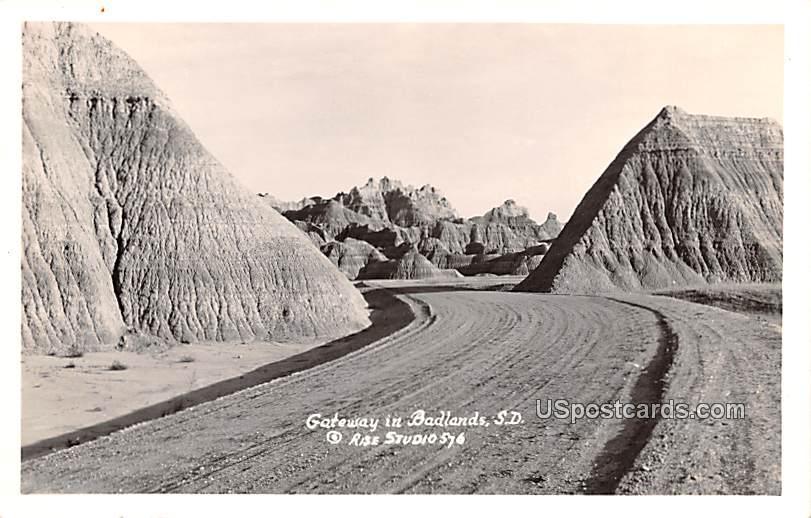 Gateway to the Needles - Badlands, South Dakota SD Postcard