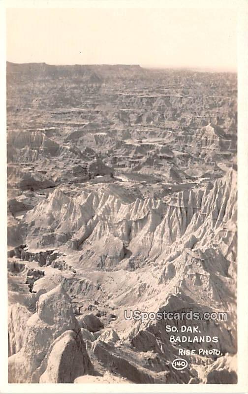 Birds Eye View - Badlands, South Dakota SD Postcard