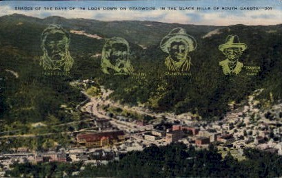 In the Black Hills  - Deadwood, South Dakota SD Postcard