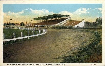 Bandshell, Campbell Park - Huron, South Dakota SD Postcard