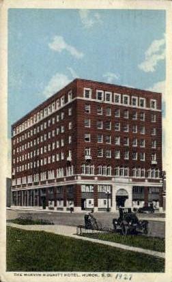 The Marvin - Hughitt Hotel - Huron, South Dakota SD Postcard