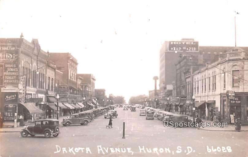 Dakota Avenue - Huron, South Dakota SD Postcard