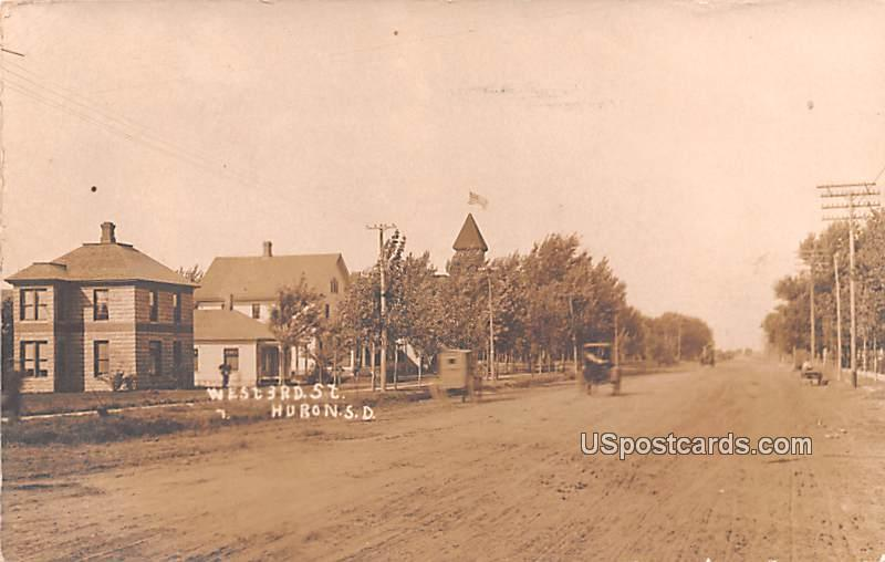West 3rd Street - Huron, South Dakota SD Postcard