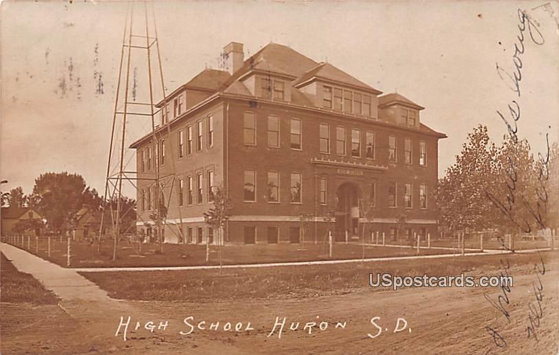 High School - Huron, South Dakota SD Postcard