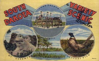 A Variety of Scenic Wonder  - Misc, South Dakota SD Postcard