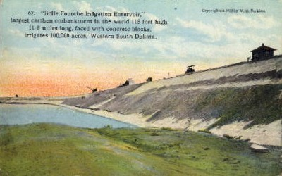 Belle Fourche Irrigation Reservoir - Misc, South Dakota SD Postcard