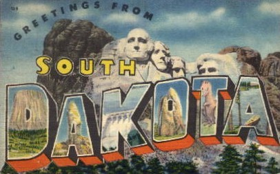 Greetings from South Dakota - Misc Postcard