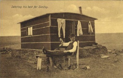 Selecting his best for Sunday - Misc, South Dakota SD Postcard