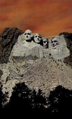 National Memorial of Mt. Rushmore - Mount Rushmore, South Dakota SD Postcard