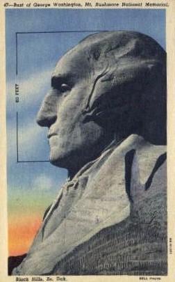 George Washington - Mt. Rushmore - Mount Rushmore, South Dakota SD Postcard