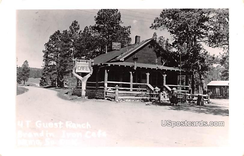 4T Guest Ranch - Nemo, South Dakota SD Postcard