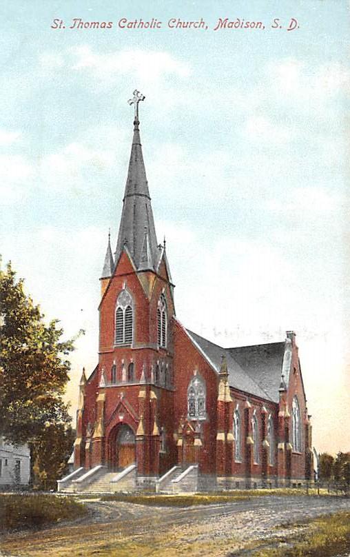First M. E. Church - Sioux Falls, South Dakota SD Postcard