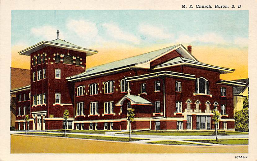City Temple, Baptist Church - Sioux Falls, South Dakota SD Postcard