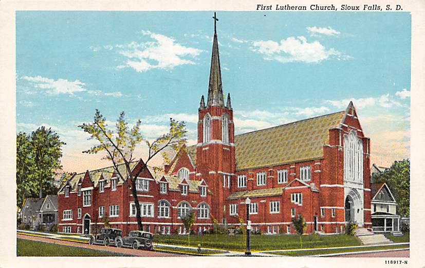 St. Joseph's Cathedral - Sioux Falls, South Dakota SD Postcard