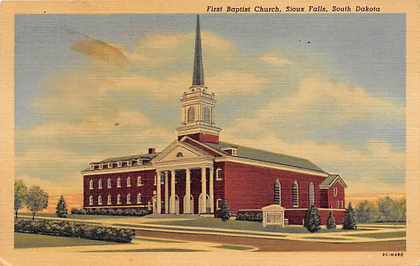 Episcopal and M. E. Church - Huron, South Dakota SD Postcard