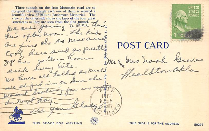 Paha Ska (Hills White) - Misc, South Dakota SD Postcard