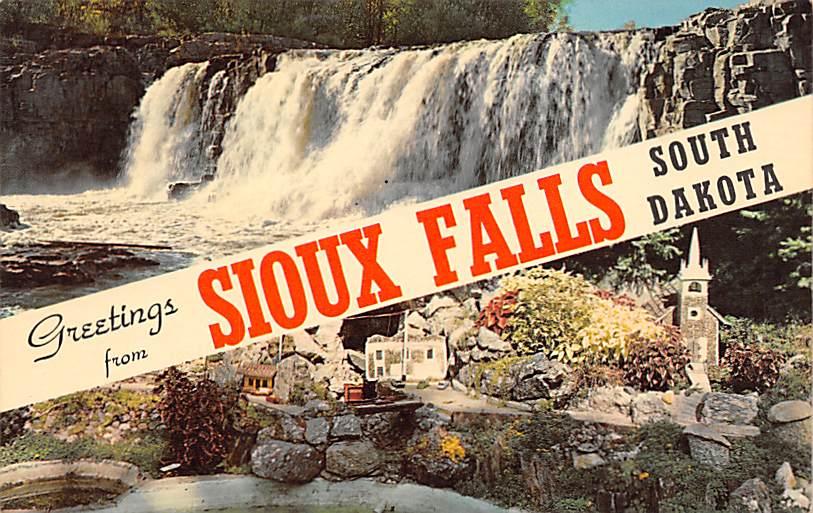 Miniature Village, McKennan Park - Sioux Falls, South Dakota SD Postcard