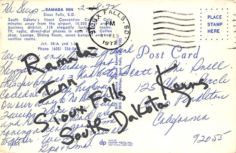 River - Sioux Falls, South Dakota SD Postcard