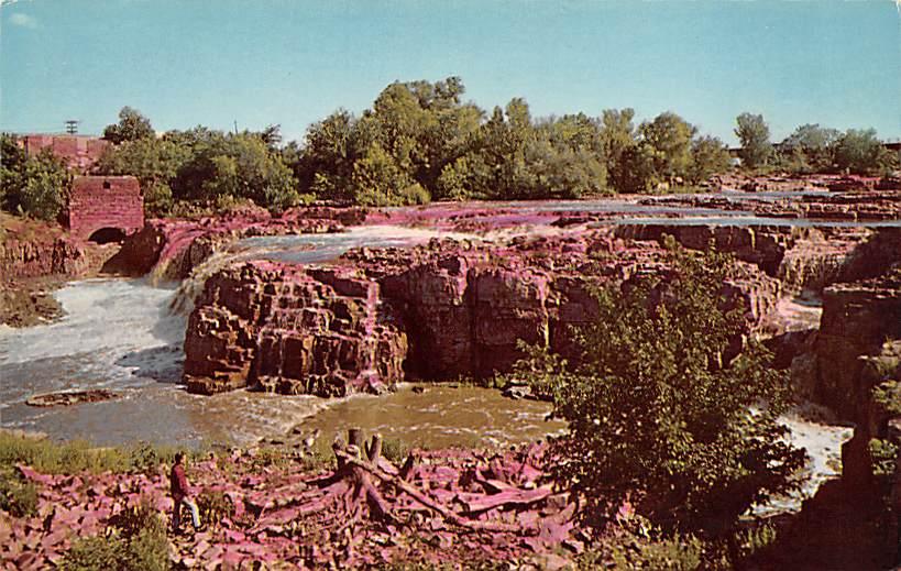 Business Section - Sioux Falls, South Dakota SD Postcard