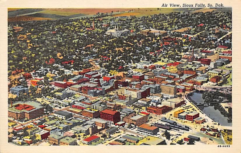 Queen Bee Mill & Electric Plant - Sioux Falls, South Dakota SD Postcard