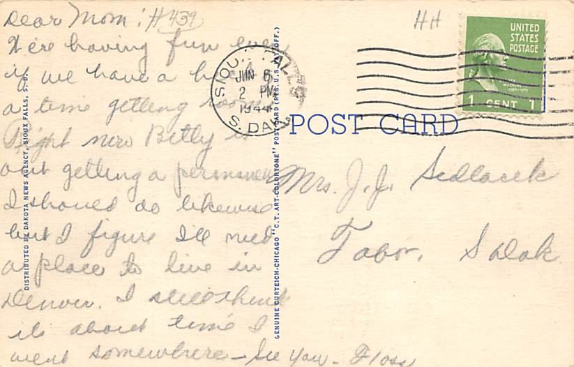 Knife Blade Rock - Lead, South Dakota SD Postcard