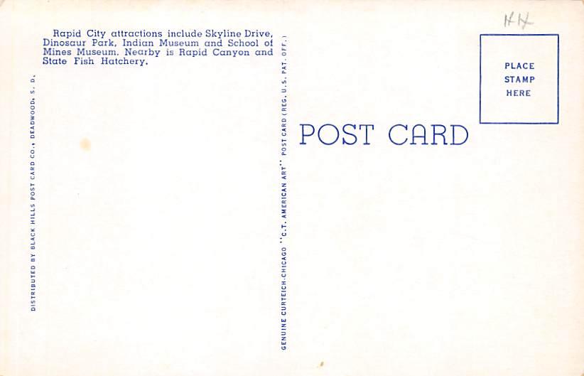 Iron Mountain Highway - Mount Rushmore, South Dakota SD Postcard