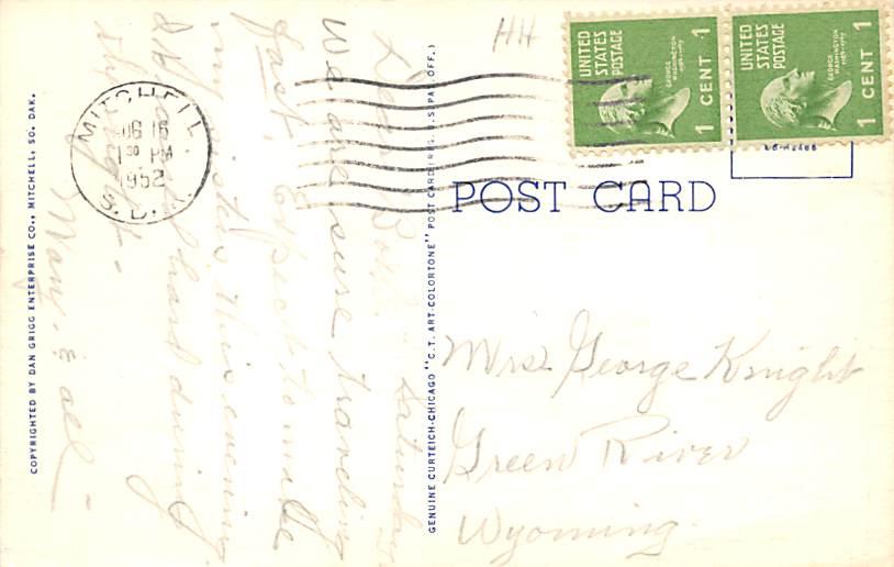 Calvary Cathedral - Sioux Falls, South Dakota SD Postcard