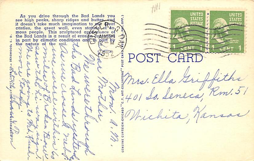 Chinese Gardens, Terrace Park - Sioux Falls, South Dakota SD Postcard