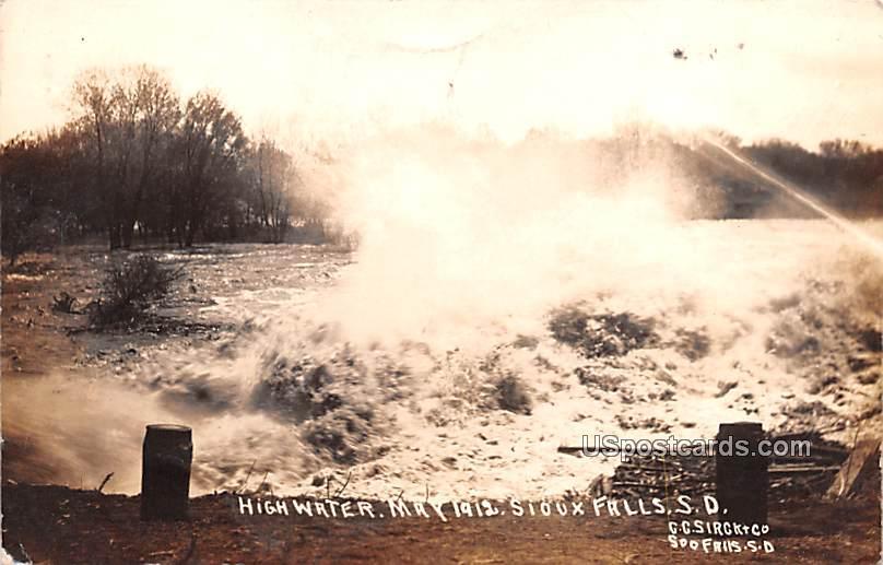 High Water - Sioux Falls, South Dakota SD Postcard