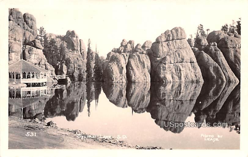 Lake View - Sylvan Lake, South Dakota SD Postcard