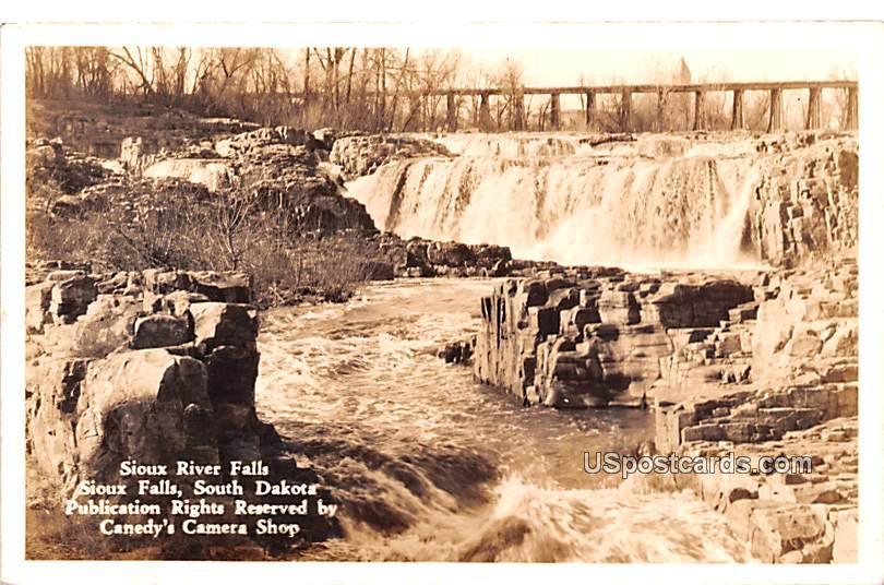 Sioux River Falls - Sioux Falls, South Dakota SD Postcard
