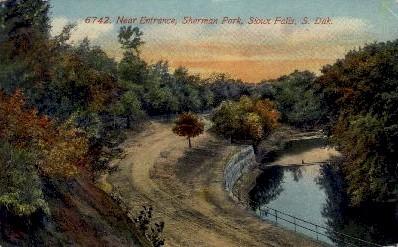Sherman Park - Sioux Falls, South Dakota SD Postcard