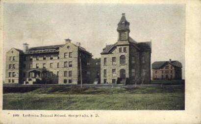 Lutheran Normal School - Sioux Falls, South Dakota SD Postcard